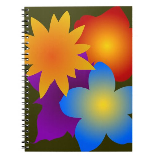 Flores flores blooms flowers cuaderno