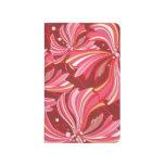 Flores, flores y pétalos coloridos - rojo cuaderno grapado
