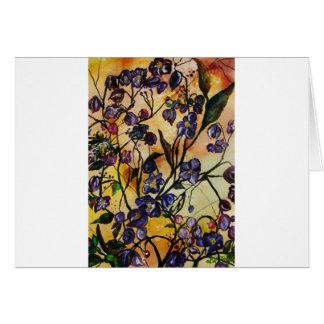 Flores flotantes tarjeta de felicitación