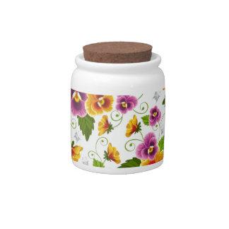 flores frescas del modelo plato para caramelo