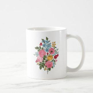 Flores frescas del vintage hermoso taza de café
