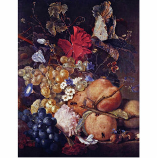 Flores, frutas e insectos de Huysum enero Van (Bes Fotoescultura Vertical