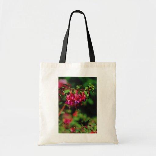 Flores fucsias bolsa tela barata