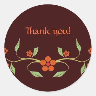 Flores - gracias - pegatina