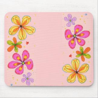 Flores grandes Mousepad artístico Tapete De Ratón
