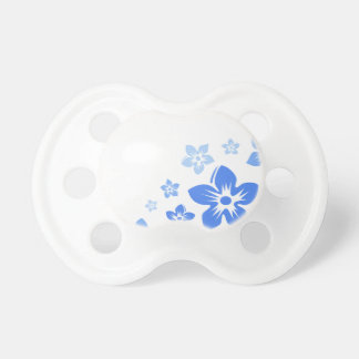flores hawaianas azules chupetes de bebé