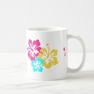 Flores hawaianas del hibisco taza clásica