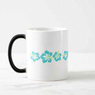 Flores hawaianas del hibisco taza mágica