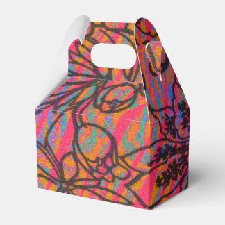 Flores hawaianas dibujadas pintadas enrrolladas caja para regalos