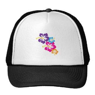 Flores hawaianas gorros