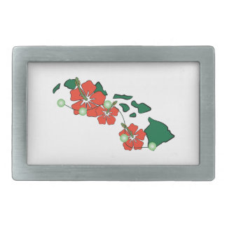 Flores hawaianas hebilla de cinturón rectangular