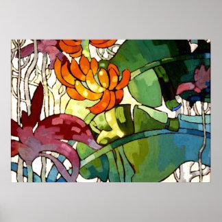 Flores hawaianas póster