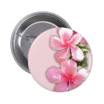 Flores hawaianas rosadas brillantes del hibisco pins
