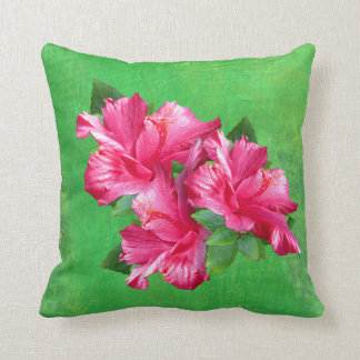 Flores hawaianas rosadas del hibisco almohada