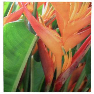 Flores hawaianas tropicales de Heliconia Servilleta Imprimida