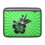 Flores hawaianas; verde fundas MacBook