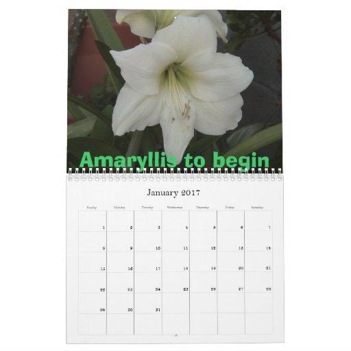 Flores hermosas calendario de pared