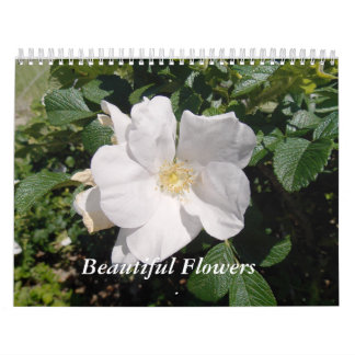 Flores hermosas calendarios de pared