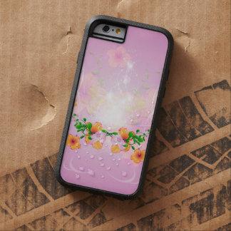 Flores hermosas con el fondo púrpura suave funda para  iPhone 6 tough xtreme