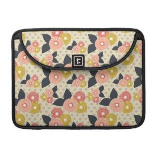 Flores hermosas de la primavera funda para macbook pro