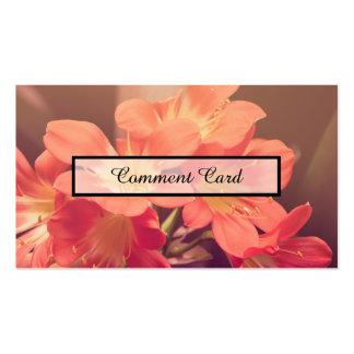 flores hermosas de la tarjeta del comentario tarjetas de visita