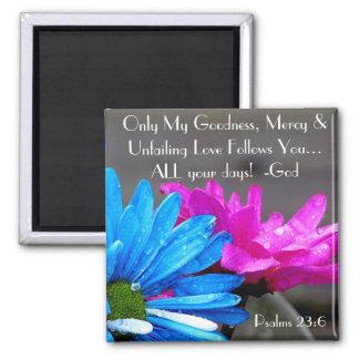 Flores hermosas e imán del salmo del verso de la