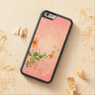 Flores hermosas funda de iPhone 6 bumper arce