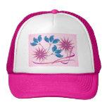 Flores hermosas gorras