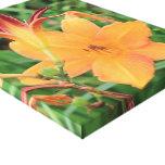 Flores hermosas impresión en lona estirada