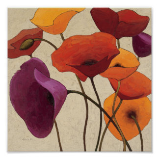 Flores hermosas póster