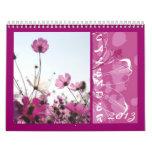 Flores hermosas rosadas del calendario 2013