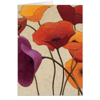 Flores hermosas tarjetón