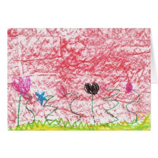 Flores hermosas tarjeta de felicitación