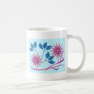 Flores hermosas taza de café