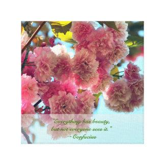 Flores hermosos impresión de lienzo