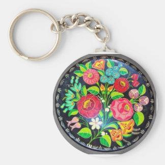 Flores húngaras llavero personalizado