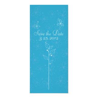 flores ilustrativas invitación 10,1 x 23,5 cm