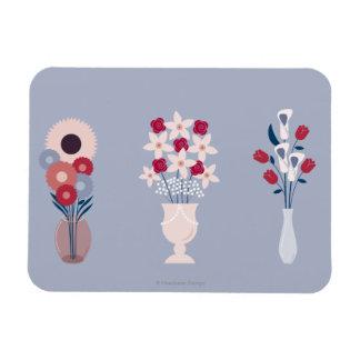 Flores Imanes Rectangulares