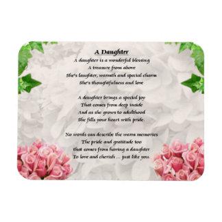 Flores - imán del poema de la hija