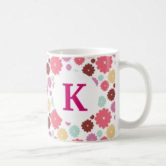 Flores impresas personalizado del bonito de la taza