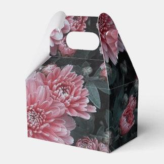 flores impresionantes, melocotón caja para regalo de boda