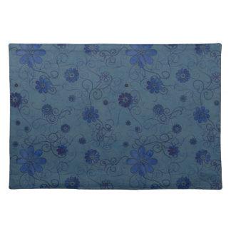 """Flores incompletas azules"" Placemat Manteles Individuales"