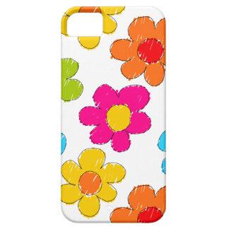 Flores incompletas vibrantes funda para iPhone SE/5/5s