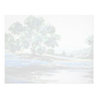 Flores inglesas azules del prado plantillas de membrete
