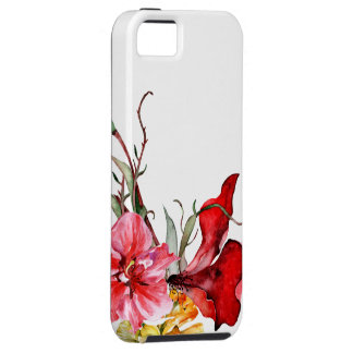 Flores intrépidas de la acuarela de Botanica de la iPhone 5 Funda