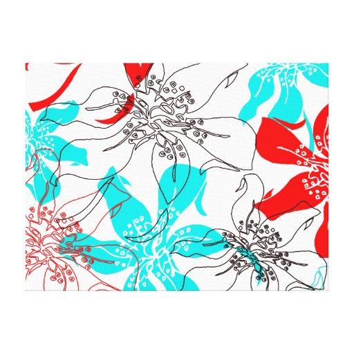 Flores intrépidos impresión en lona estirada
