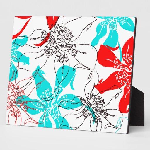 Flores intrépidos placas con fotos