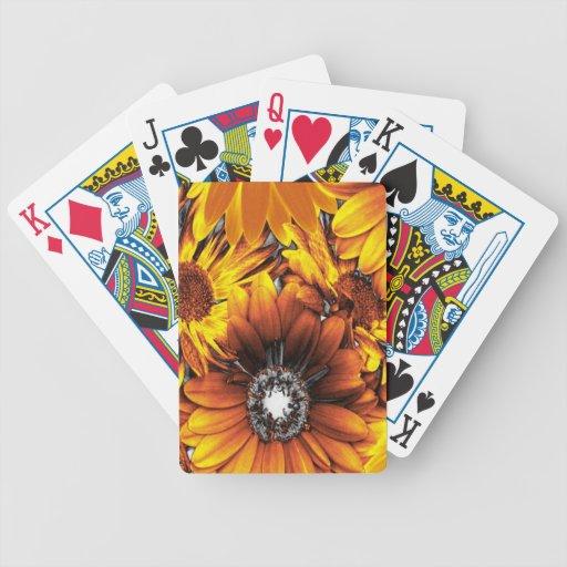 flores inusuales de oro cartas de juego
