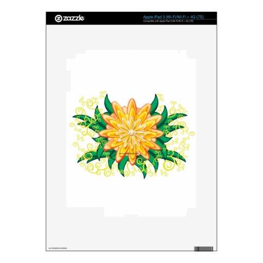 FLORES iPad 3 PEGATINA SKIN