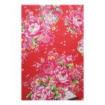 Flores japonesas del rosa del kimono  papeleria